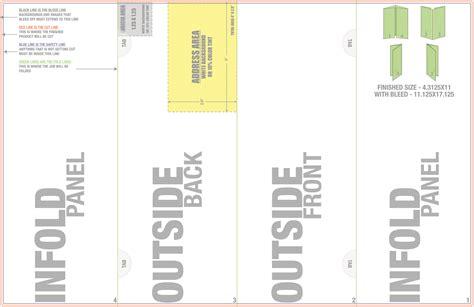 Double Gate Fold Brochure Template Costumepartyrun