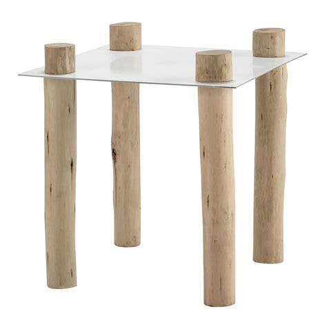 bout de canapé en bois bout de canapé en métal et bois blanc l 45 cm komodo