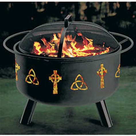 Celtic Design Fire Pit And Grill Combination Findgiftcom