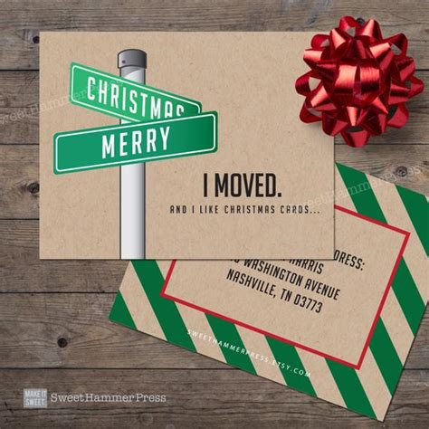 I did change a few things to we've moved post card | zazzle.com. We Moved Christmas Cards Streetsign Xmas Moving Cards New ...