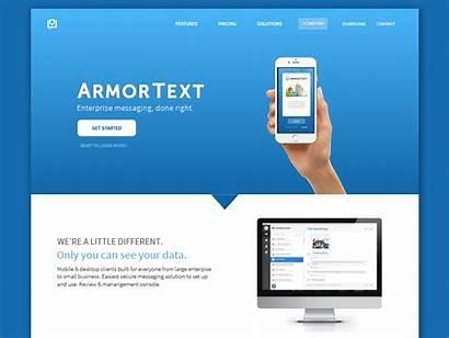 Website Redesign Dribbble Javascript Enabled Security App