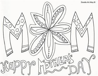 Mothers Coloring Mother Pages Happy Printable Doodle