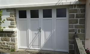 porte de garage battante et portillon integre ouverture a With porte de garage enroulable avec porte intérieure 2 vantaux