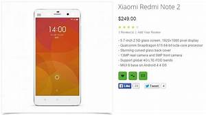 Xiaomi Redmi Note 2 Gets Specs Leaked By Retailer