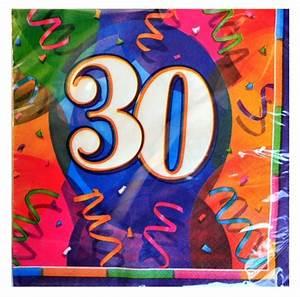 Servietten 1 Geburtstag : geburtstagsservietten 30 geburtstag deko servietten geburtstags tischdekoration geburtstag ~ Udekor.club Haus und Dekorationen
