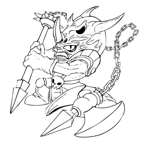 Kleurplaat Enge Monsters by Leuk Voor Skylanders Voodood