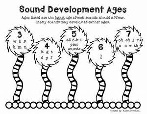 Speech Therapy Articulation Development Age Chart By