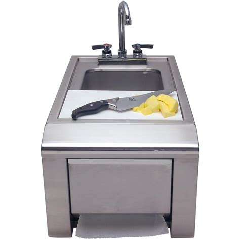outdoor grill with sink alfresco prep and wash sink with towel dispenser ask t