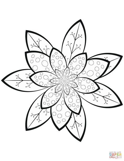 pattern coloring pages flower pattern coloring page free printable coloring pages