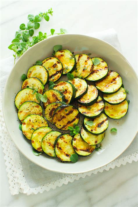 Grilled Zucchini Medallions - Zen & Spice