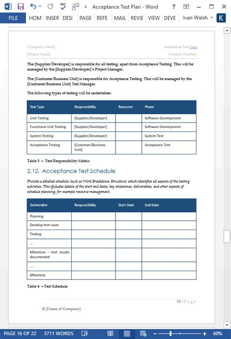 software test plan template acceptance test plan template 21 page ms word