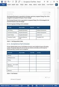 acceptance test plan template 21 page ms word With software testing schedule template
