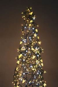 The, Lighted, Tree, Make, A, Christmas, Tree, From, A, Tomato, Cage, And, Strings, Of, Lights