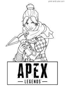 apex legends coloring pages print  colorcom