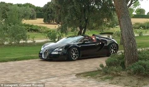 The soccer star owns one of only ten examples that are being made. Cristiano Ronaldo shows off Bugatti Veyron as Real Madrid star feels need for speed | Daily Mail ...