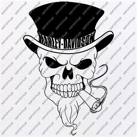 Harley Davidson Svg File-Skull Svg Design - Clipart ...