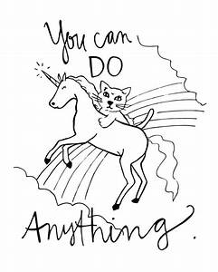 Coloring Page // You can do anything // original by ...