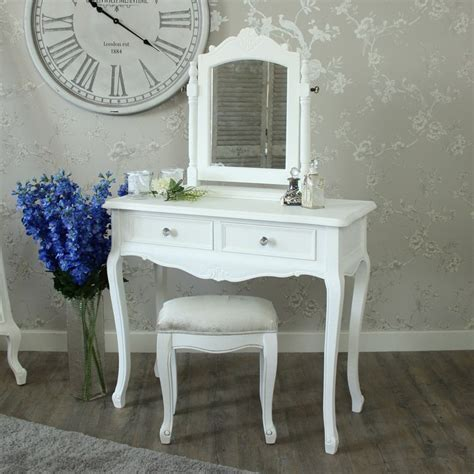 Cheap Dressing Tables With Mirror And Stool Dressing Table Mirror And Stool Elise White Range In