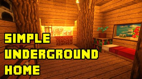 minecraft simple underground housebase tutorial xboxpcpepsps youtube