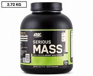 Optimum Nutrition Serious Mass Protein Powder Vanilla 2 72kg
