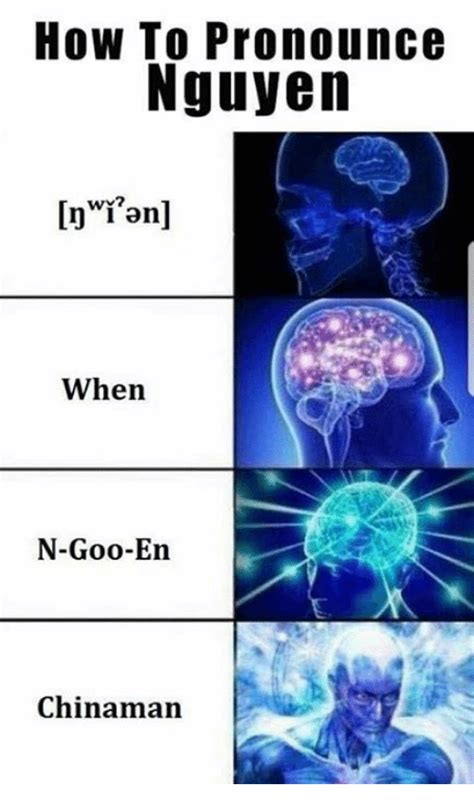 Meme How To Pronounce - how to pronounce nguyen wy when n goo en chinaman dank meme on me me