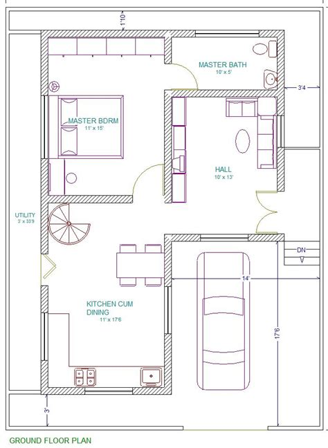 floor plan for 30x40 site 30x40 east facing vastu home everyone will like acha homes