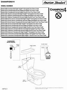 30 American Standard Champion 4 Parts Diagram