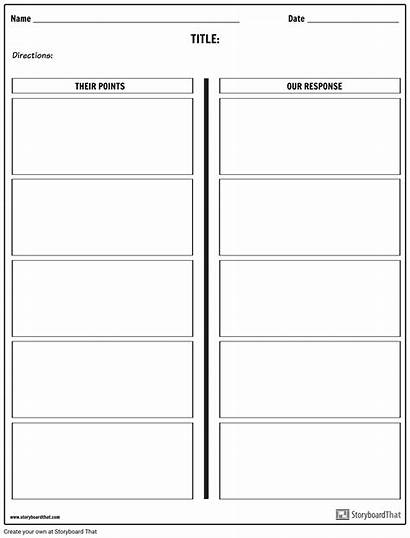 Debate Template Worksheet Worksheets Templates Class Example
