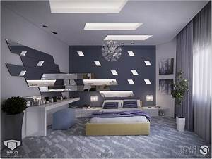 Interior ceiling design for bedroom master with