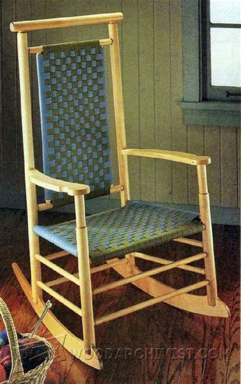 shaker style rocking chair plans woodarchivist
