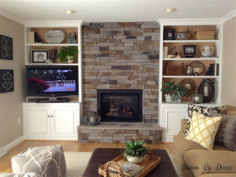 Built In Bookcase Around Fireplace by Transforming A Fireplace And Built In Bookcases Driven
