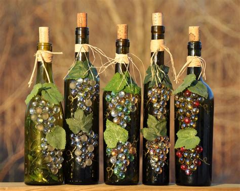 Decorating With Wine Bottles 1000 Ideas About Decorated