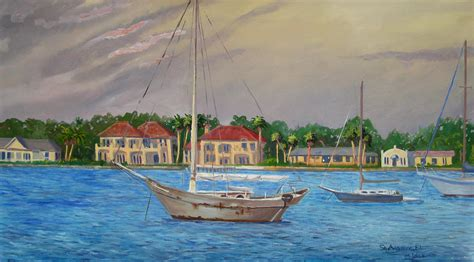 st augustine fl painting by d t lavercombe