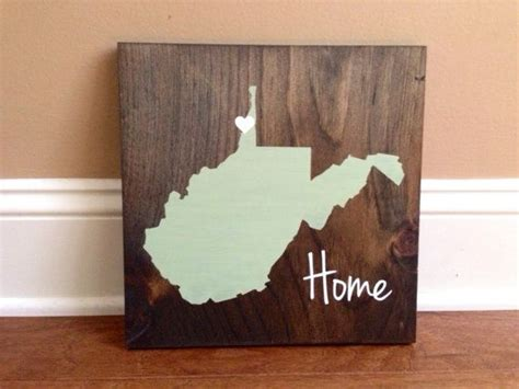 Pick Colors, West Virginia Wood Sign, West Virginia Sign