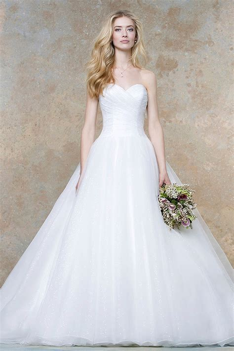 Pleated Sweetheart Strapless Ivory Ball Gown Statement