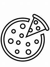 Pizza Coloring Fun sketch template