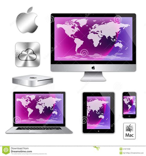 ordinateurs de macbook d d iphone d imac d apple image stock 233 ditorial image 21877239