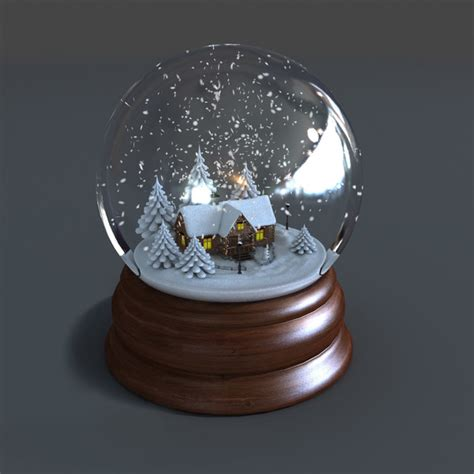 3d model of snow globe animations