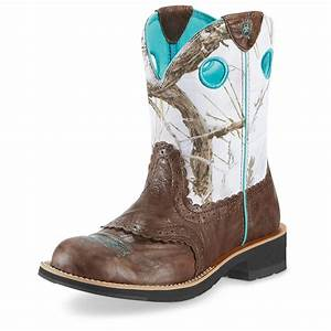 """Women's Ariat® 8"""" Fatbaby Cowgirl Cowboy Boots - 282507 ..."""