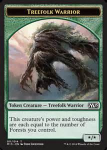 token magic 2015 treefolk warrior