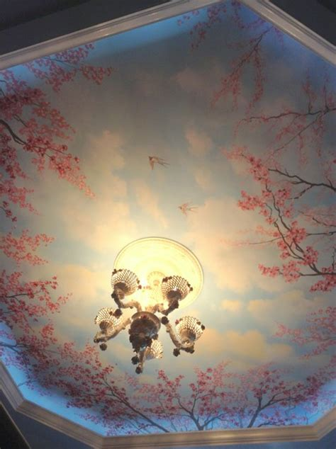 southwestern kitchen cabinets cherry blossom trees ceiling mural by tom of wow 2413