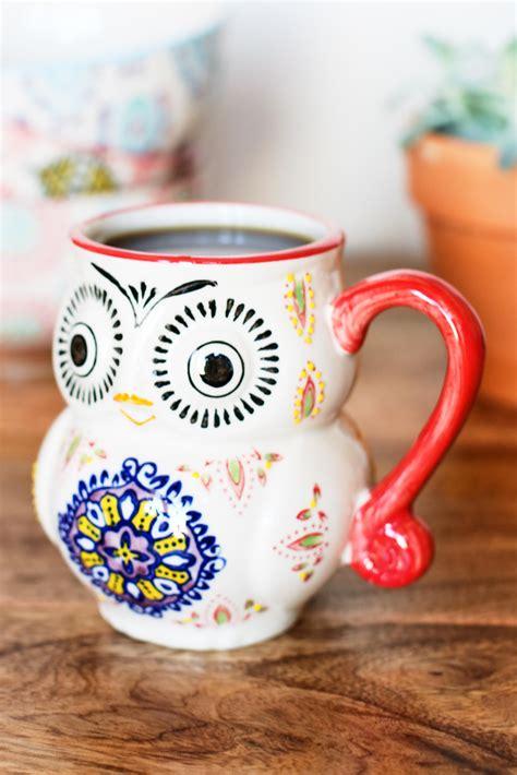 Pottery handmade coffee mug gift idea «owl» 13.3 fl oz. Hand Painted Owl Ceramic Mug. #earthboundtrading #homedecor #mug #kitchen…   Coffee mugs vintage ...
