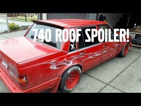 volvo  roof spoiler straight pipe youtube