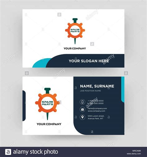 spare parts business card design template visiting