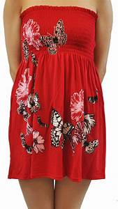 Women S Plus Size Chart Womens Plus Size Red Floral Butterfly Printed Tube