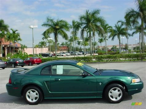 amazon green metallic  ford mustang  coupe exterior
