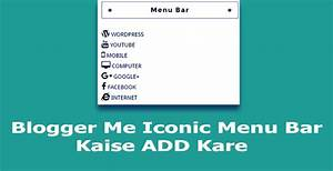 Gniitsolution blogger sidebar me iconic menu bar kaise for Html side menu bar template