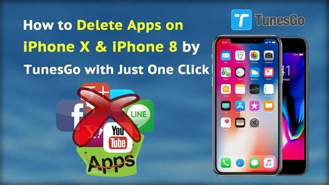 how to delete apps on iphone x iphone 8 by tunesgo with just one click