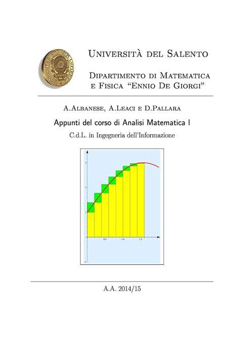 dispense analisi matematica 1 dispensa analisi i dispense