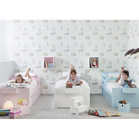 chambre 3 enfants avec lits unitaires et rangement asoral